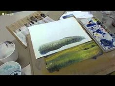 watercolour foreground meadow - YouTube