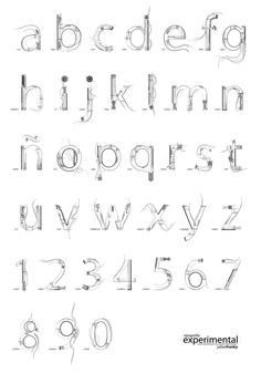 Font from Fabric Experimental Typography on Behance