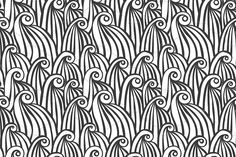 Waves. Seamless Patterns Set 1 by Curly_Pat on @creativemarket