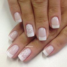 "554 Likes, 12 Comments - Ateliê Madáh Santana (@madahsantana) on Instagram: ""Nails #branquinho #francesinha #filha #única #arabescos #mimo #madahsantana #manicure #nailart…"""