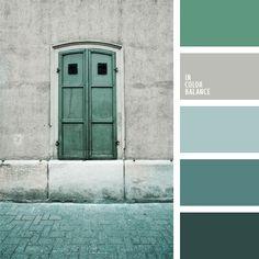 azul aciano pálido, celeste grisáceo, color turquesa, de color plata, elección del color, gris plata, paleta de colores monocromática, paleta del color celeste monocromática, selección de colores, tonos celestes, tonos grises, turquesa grisáceo, turquesa oscuro.