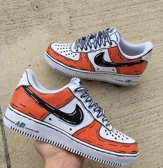 Cartoon Nike Air Force 1 Custom Shoes (Made To Order) Custom Sneakers Sneaker Plug, Sneaker Store, Custom Painted Shoes, Custom Shoes, Custom Vans, Hype Shoes, On Shoes, Sneakers N Stuff, Shoes Sneakers