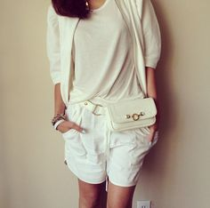 Chriselle Lim in our Classic Belt Bag in Gesso, hipstersforsisters.com