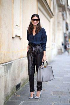 Leila Yavari - Paris Street Style Spring 2015 - We want everything! Fashion Mode, Look Fashion, Autumn Fashion, Fashion Trends, Budget Fashion, Fashion Spring, Fashion Shoot, Fashion Clothes, Trendy Fashion