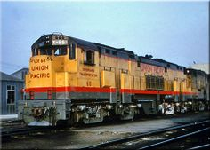 Union Pacific's massive Alco C855 #60 and accompanying B unit #60-B are seen here at Council Bluffs, Iowa during the 1960s.