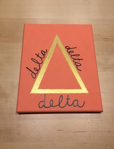 Tri Delta Canvas #tridelta #canvas