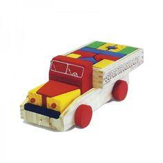 Super Transblocos – Caminhão de Madeira - Brinquedice