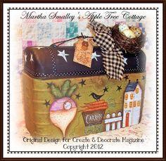 "E Pattern - Martha Smalley's Apple Tree Cottage Designs -""Mr. McGregor's Lunchbox"". $5,00, via Etsy."