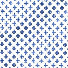 Michael Miller House Designer - Petite Paris - Petite Fleur De Lis in Blue