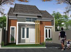 Dekorasi dan Desain Rumah Minimalis Type 45, Bentuk Rumah Minimalis Tipe 45 Dengan Halaman Tanpa Pagar