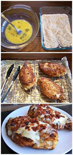 There's really not much to say about Parmesan Crusted Chicken with Bacon except….YUM!