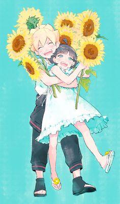 Boruto & Himawari :3 <3 Kawaaaaaaaii