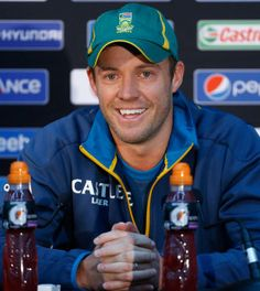 AB De Villiers Speaks At A Press Conference On The Eve Of Semi Final Between England And South Africa Oval