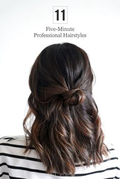 The cutest quick hairstyles for the office! These everyday looks work for multiple hair lengths, colors, and textures.