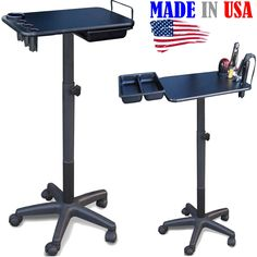 2700 Salon SPA Utility Chemical Coloring Cart Table Tray w/tool holders By Dina Meri