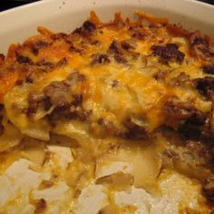 Cheesy Hamburger & Potato Casserole