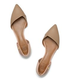 A perfect nude flat: The Tory Burch Viv Flat.