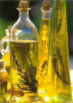 Herb flavored olive oils to drizzle and flavor. A few sprigs of rosemary, lavender, thyme, in a good French olive olive oil is a touch of France on your table. French country cooking in the South of France, is simple, and beautiful.