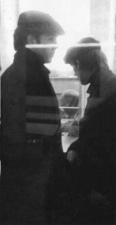 Paul McCartney and George Harrison (in Hamburg) (Source- http://thateventuality.tumblr.com/)