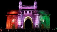 The Gateway of India lit up for a very special occasion in February 2014 ( Pic taken by Jigar Mistry)