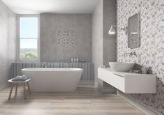 Rvto / Wall / Rvtm: Grace Plata 31,6x60/ Soft Plata 31,6x60/ Touch Azul 31,6x60/ Alzata Maison 15x31,6                                                                                                                             Pvto /Floor / Sol: Bosco Taupe 22x85