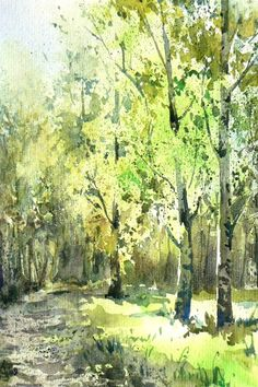 Love the light in this painting.... and the trees!