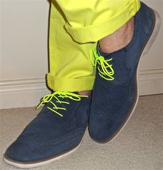 Joe Fresh chinos, Stacy Adams blue suede shoes…