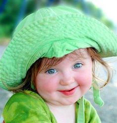 Green little lady...she is young but looks like an old soul Cute Little Girls, Deck, Patio, Decks, Terrace Garden