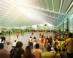 Herzog and de Meuron unveil plans for brilliant naturally ventilated Mae Luiza gymnasium. #inhabitat