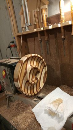 Segmented Turning Chip And Dip Oak Maple Mahogany By Joe Oliver Wood ProjectsLathe