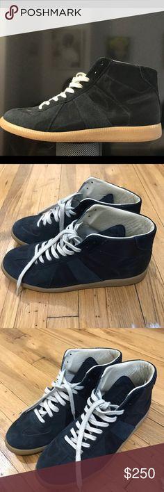 60c5e2925b8 Men s Margiela size 44 (10 in USA) Men s Margiela midtop sneaker. Blue with