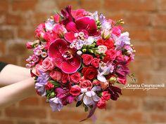 Счастливый свадебный букет