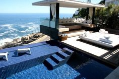 Poolside sitting area
