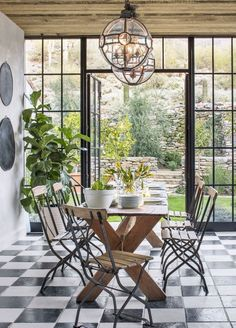 This Rustic Arizona Kitchen Feels Like a French Countryside Vacation Neutral Bedroom Decor, Checkerboard Floor, Checkered Floors, Checkered Floor Kitchen, Bistro Chairs, French Countryside, Beautiful Bathrooms, Rustic Decor, Rustic Charm