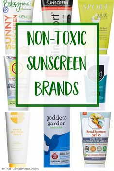 Mom Tested, EWG Rated Non-Toxic Sunscreen Guide A roundup of the best non-toxic, natural sunscreen brands made without toxic chemicals. Organic Beauty, Organic Skin Care, Natural Skin Care, Natural Beauty, Natural Makeup, Organic Makeup, Skin Care Regimen, Skin Care Tips, Best Sunscreens