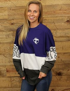 Show your Tarleton Texan spirit with this cute long sleeve tee Everyone will be asking where you got it GO TSU