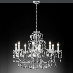 Pretty Eight Light Chandelier