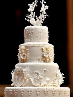 こちらがウィリアム王子とキャサリン妃のウェディング・ケーキ。