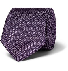 Turnbull & Asser - Patterned Woven Silk Tie