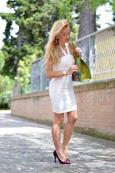 Italian White Mini Dress