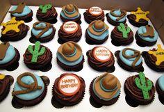 Cowboy Cupcakes by Cutie Cakes WY, via Flickr