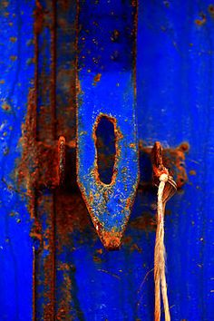 beautiful color and rusty door hardware