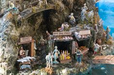 A Christmas nativity in Amalfi - showing a scene from town! | Amalfi Coast, Italy | Christmas in Italy