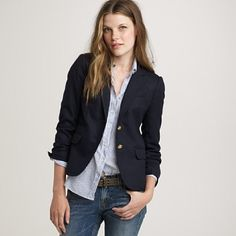 oh, to be blue-blazered!  I love everything about a tailored navy blazer.
