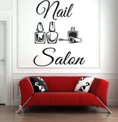 Nail Salon Wall Decal Manicure Pedicure Window Sticker Nail Bar Nail Polish Decal Beauty Salon Spa W Nail Salon Design, Nail Salon Decor, Beauty Salon Decor, Salon Interior Design, Beauty Salon Interior, Salon Nails, Salon Art, Barber Shop Decor, Salon Signs