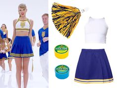 7 Ways You And Your Friends Can Dress As Taylor Swift For Halloween Taylor Swift Halloween Costume, Taylor Swift Costume, Cheerleader Halloween Costume, Taylor Swift Party, Taylor Swift Birthday, Badass Halloween Costumes, Taylor Swift Concert, Taylor Swift Outfits, Taylor Swift Fan