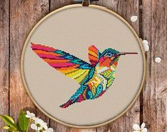 Mandala Hummingbird Cross Stitch Pattern for Instant Download - 309| Lovely Cross Stitch| Room Decor| Needlecraft Pattern| Easy Cross Stitch