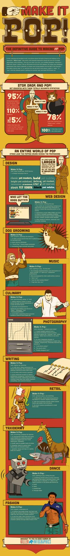 """The Definitive Guide To """"Making It Pop"""" (infographic)"""