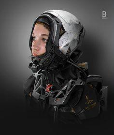 MM45 Helmet Opened, Benoit Godde on ArtStation at http://www.artstation.com/artwork/mm45-helmet-opened
