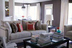 Paloma Contreras Design | Greek Key Pillows | Greek Key Linen Curtains | Hicks Pendant | Custom Sofas